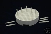 1 Round Firing tray with 10 Zirconia pins
