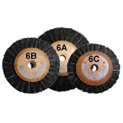 Brush Wheels  Wooden Center, Top Quality & Long Lasting - 12/pk
